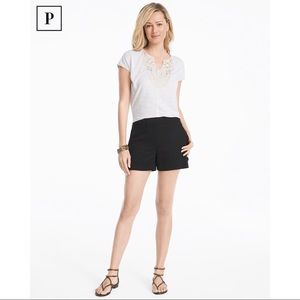 Pants - WHBM Petite 4-inch Lace Up Shorts